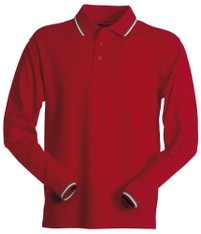 POLO LONG NATION ROSSA